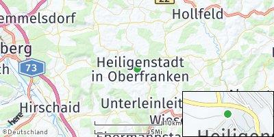 Google Map of Heiligenstadt in Oberfranken