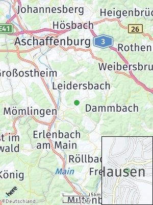 Here Map of Hausen bei Aschaffenburg