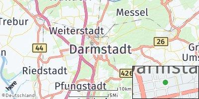Google Map of Darmstadt