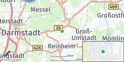 Google Map of Groß-Zimmern