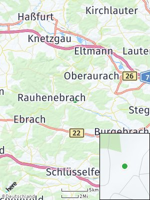 Here Map of Rauhenebrach