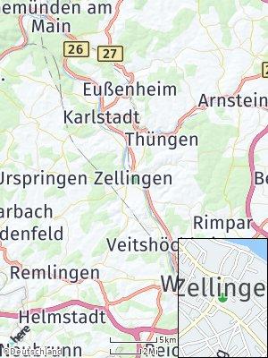 Here Map of Zellingen