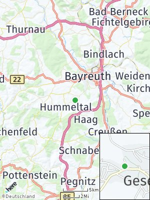 Here Map of Gesees bei Bayreuth