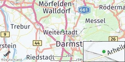 Google Map of Weiterstadt