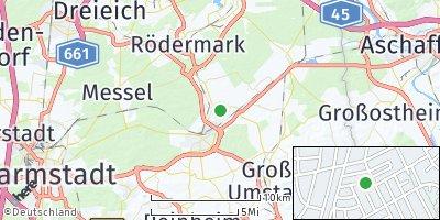 Google Map of Münster bei Dieburg