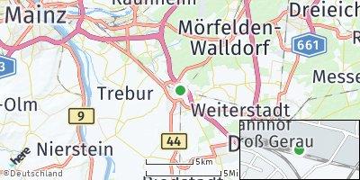 Google Map of Groß-Gerau