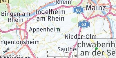 Google Map of Schwabenheim an der Selz