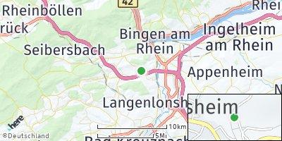 Google Map of Rümmelsheim / Burg Layen