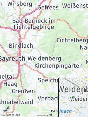 Here Map of Weidenberg