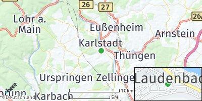 Google Map of Laudenbach