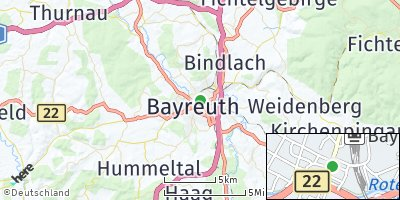 Google Map of Bayreuth