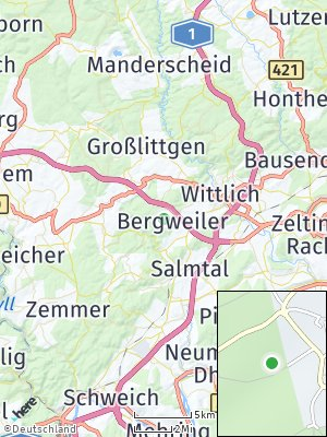 Here Map of Bergweiler bei Wittlich