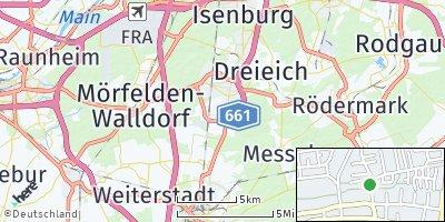Google Map of Egelsbach