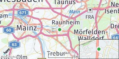 Google Map of Rüsselsheim