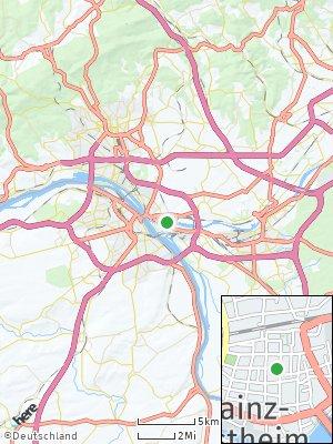 Here Map of Mainz-Kostheim
