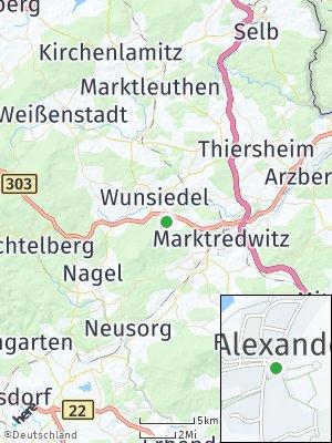 Here Map of Bad Alexandersbad