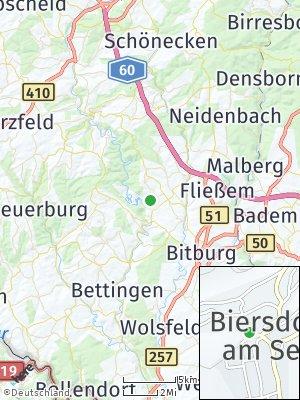 Here Map of Biersdorf am See