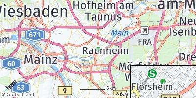 Google Map of Flörsheim am Main