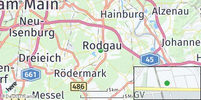 Google Map of Rodgau