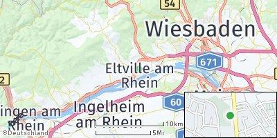 Google Map of Eltville am Rhein