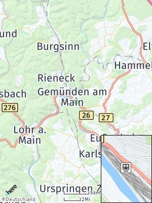 Here Map of Gemünden am Main