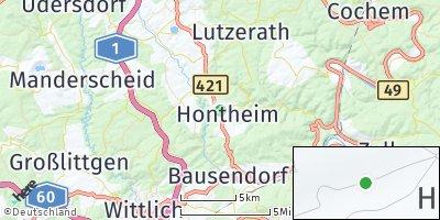 Google Map of Hontheim bei Wittlich