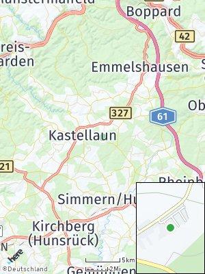 Here Map of Hollnich bei Kastellaun