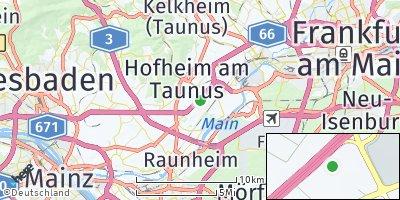 Google Map of Hattersheim am Main