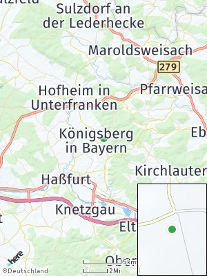 Here Map of Königsberg in Bayern