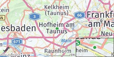 Google Map of Hofheim am Taunus