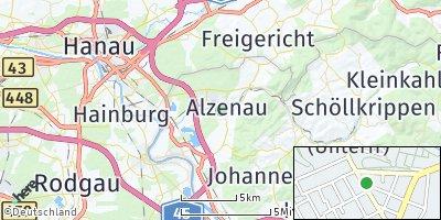 Google Map of Alzenau in Unterfranken
