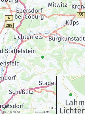 Here Map of Lahm bei Lichtenfels