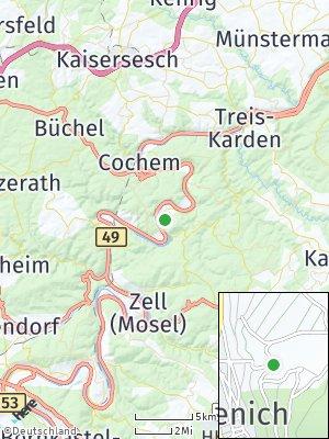 Here Map of Mesenich bei Cochem