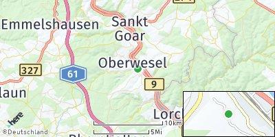 Google Map of Oberwesel