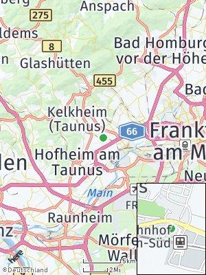 Here Map of Liederbach am Taunus