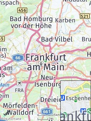 Here Map of Frankfurt am Main