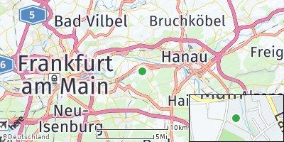 Google Map of Mühlheim am Main