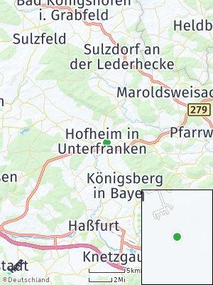 Here Map of Hofheim in Unterfranken