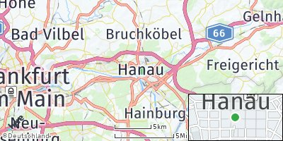 Google Map of Hanau