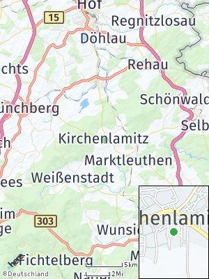Here Map of Kirchenlamitz