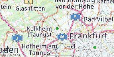 Google Map of Schwalbach am Taunus