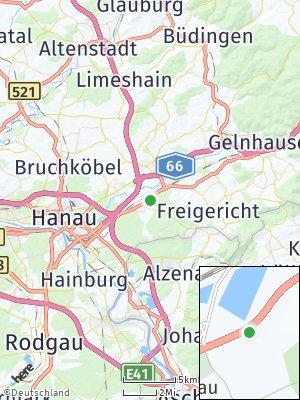 Here Map of Rodenbach bei Hanau