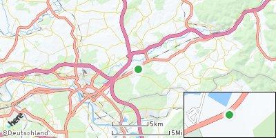 Google Map of Rodenbach bei Hanau