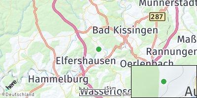 Google Map of Aura an der Saale