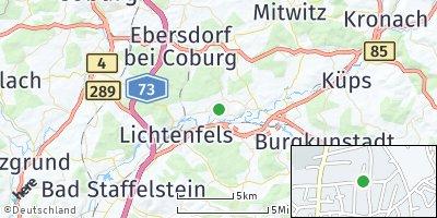 Google Map of Michelau in Oberfranken
