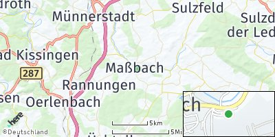 Google Map of Maßbach