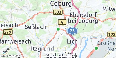 Google Map of Großheirath