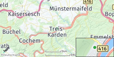 Google Map of Treis-Karden