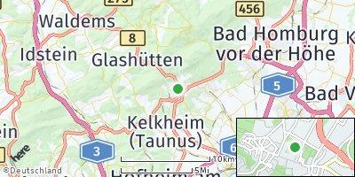 Google Map of Königstein im Taunus