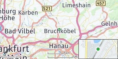 Google Map of Bruchköbel